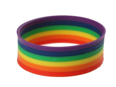 Show your pride with a pretty rainbow bracelet