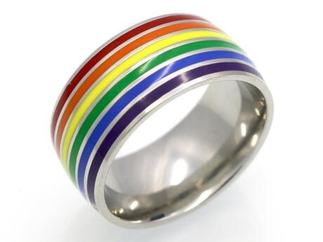 A rainbow ring is an understated way to show your pride at any time