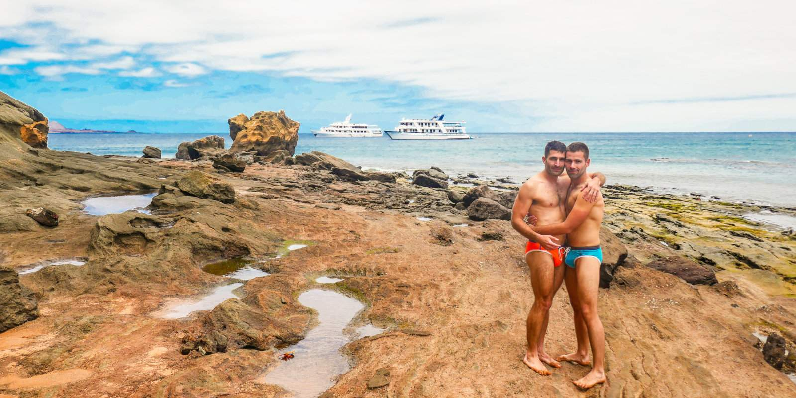 Exploring the Galapagos in seclusion on our gay charter cruise with Ishpingo tours