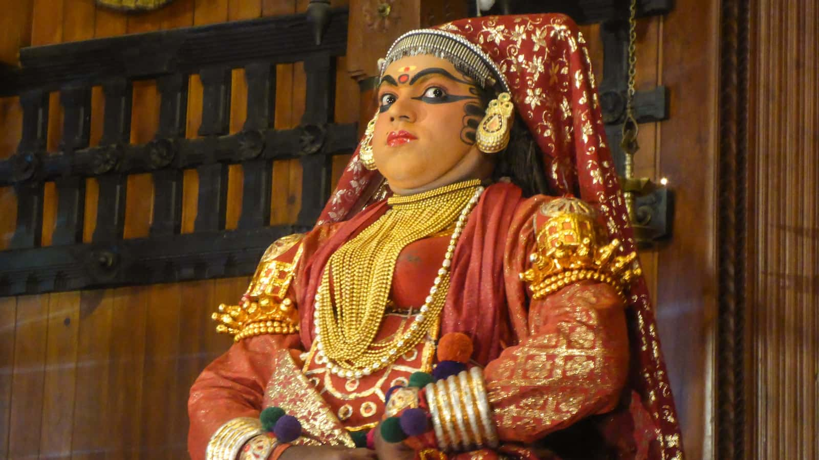 Kathakali dancer in Kochi during Gay Kerala Queer Pride