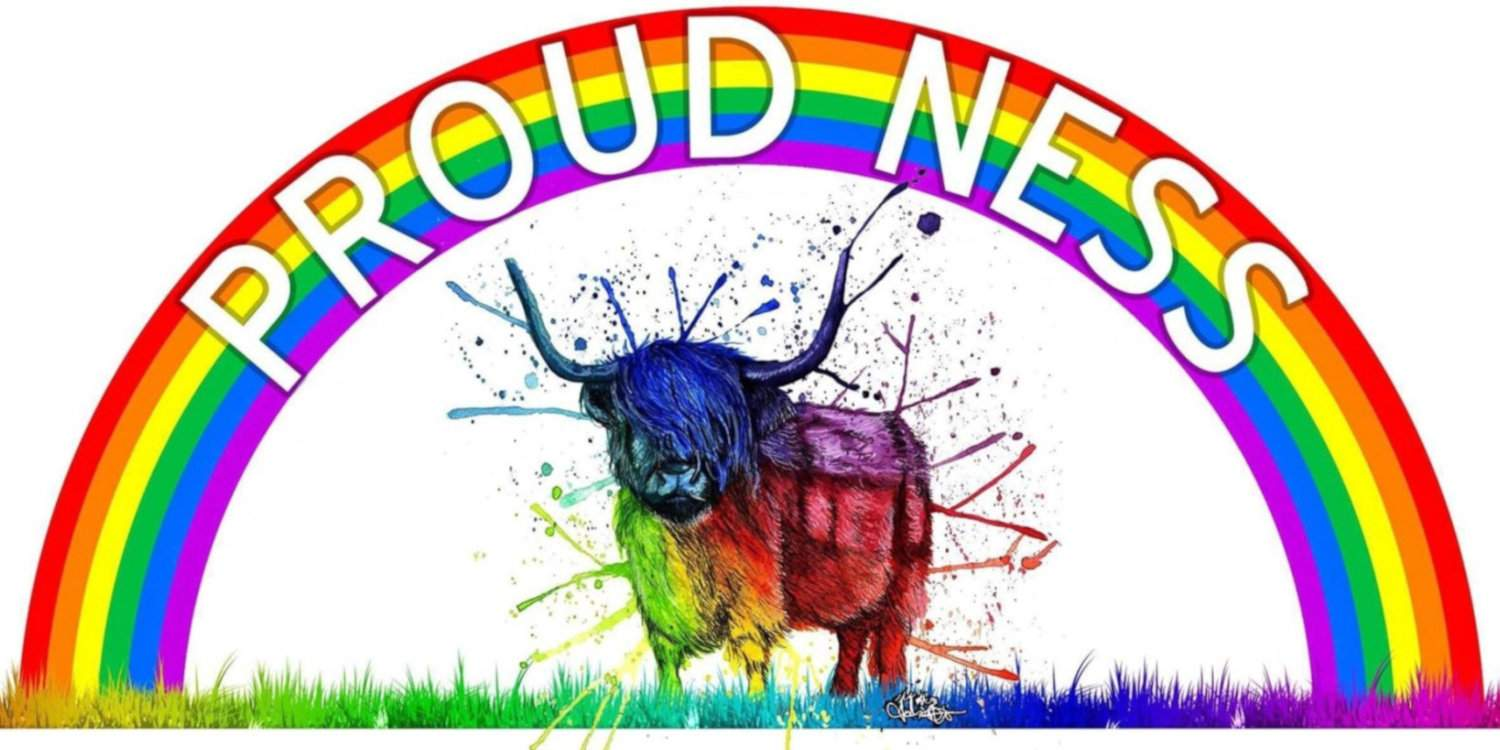 Proud Ness is a great LGBT organisation in the Scottish highlands, with the cutest logo!