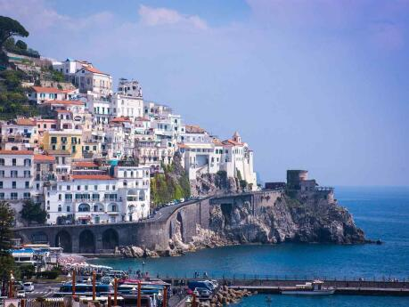 Amalfi is a gorgeous city perched on the cliffs of the Amalfi coastline and one of the most popular spots in the area