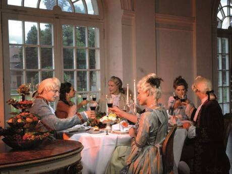 One of the coolest things to do in Berlin is have dinner at Charlottenburg Palace with musicians in period dress.