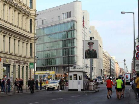 One of the most popular tourist attractions in Berlin is Checkpoint Charlie