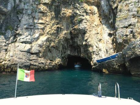 Visiting the stunning Emerald Grotto on the Amalfi Coast is perfectly combined with an excursion to other hidden grottoes, caves and arches - along with swimming in the azure waters!