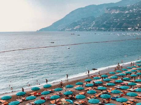 Maiori is home to one of the best beaches on the Amalfi Coast, the perfect spot to work on your tan
