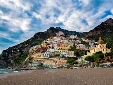 The stunning and romantic town of Positano is a very popular spot on the Amalfi Coast
