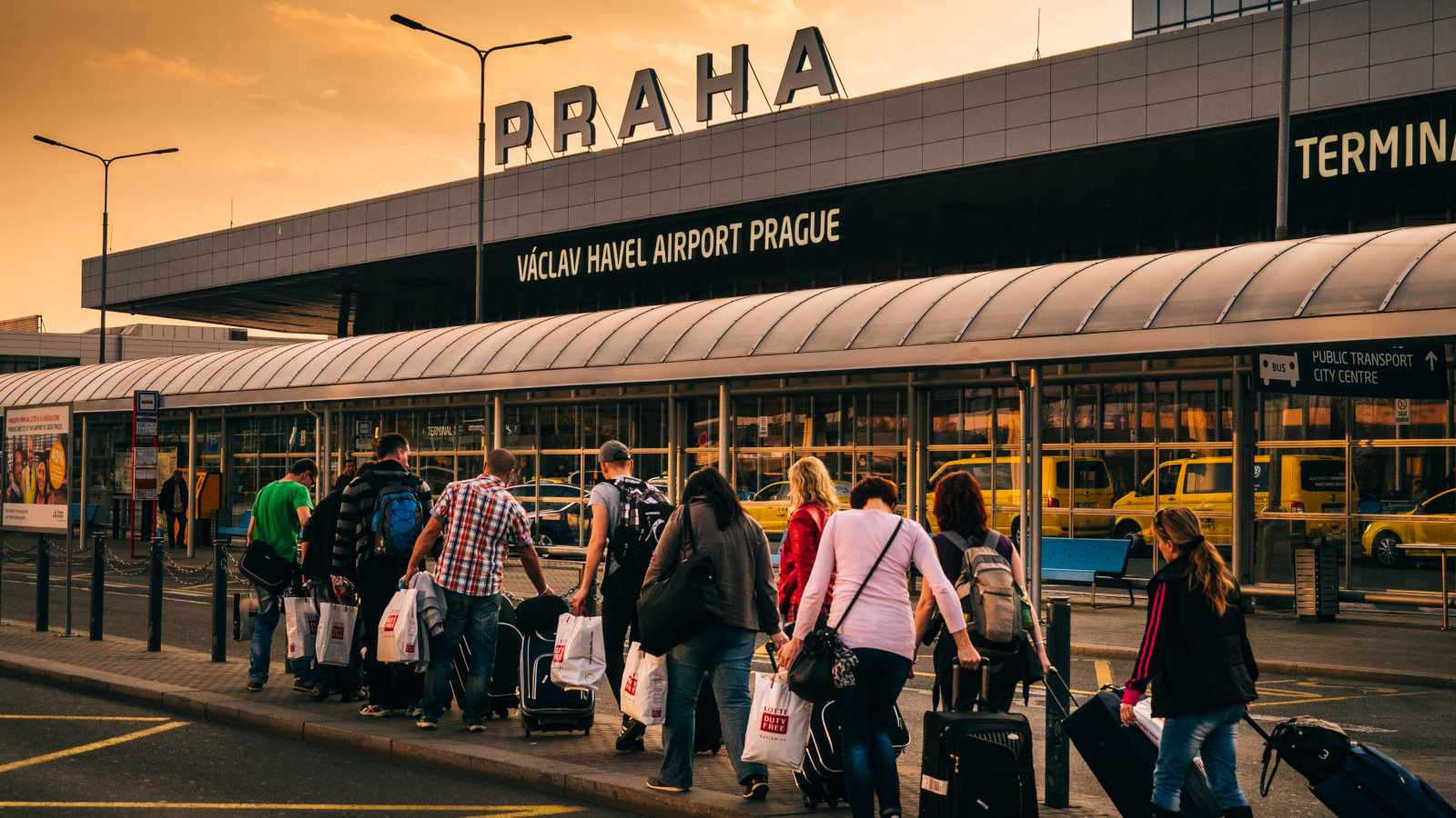 There are a number of public buses to get from Prague airport to the city centre