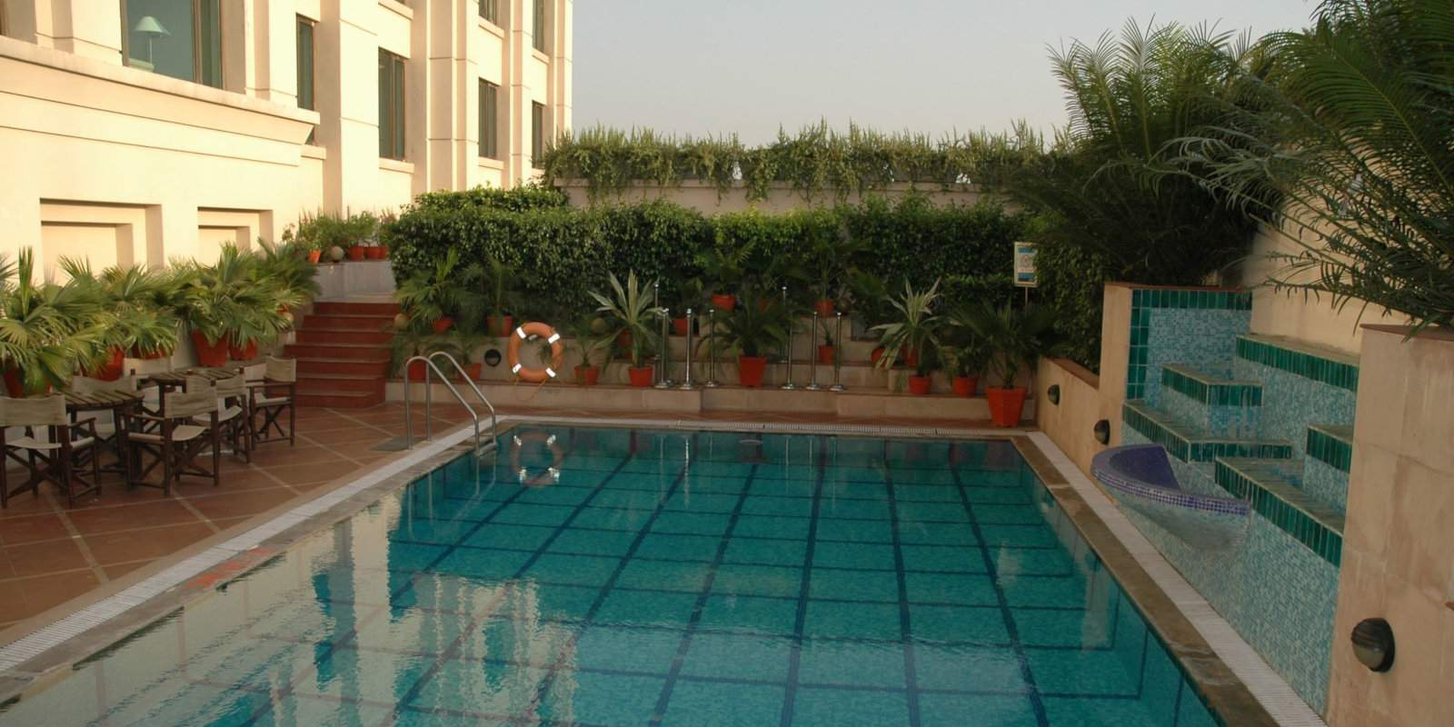 The Radisson's pool is a lovely spot to cool down after a day of exploring Varanasi