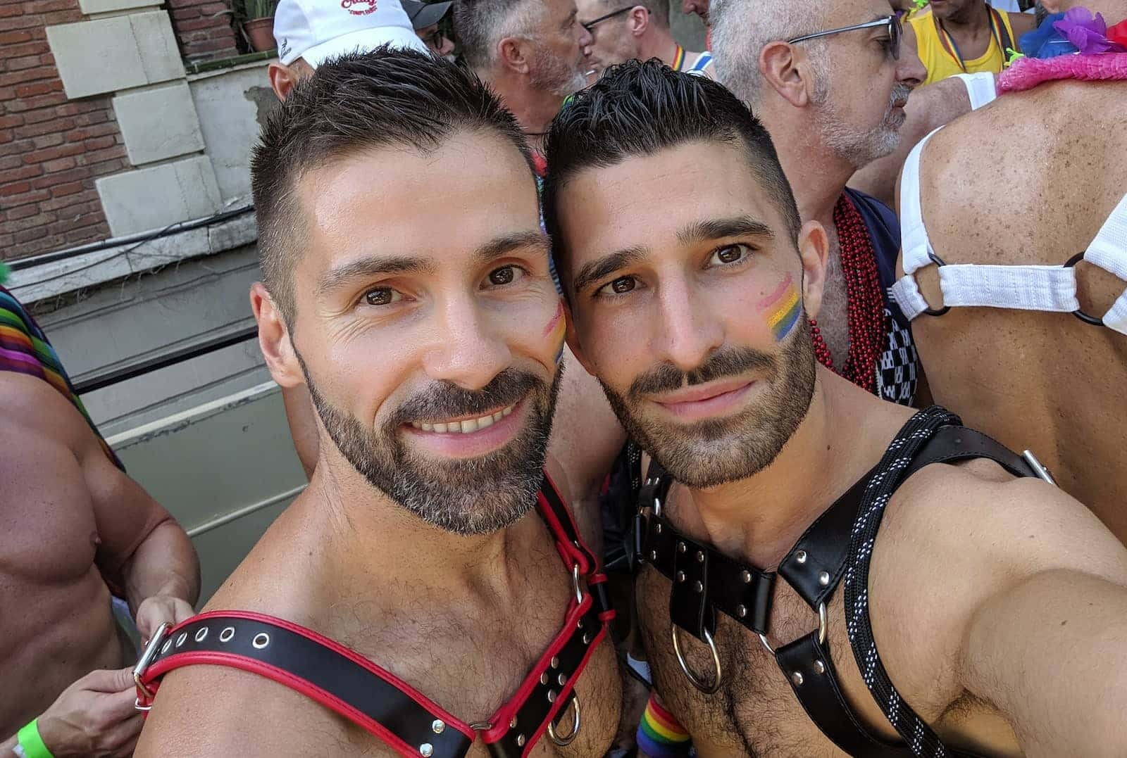 Shopping for harnesses at the gay shops in Barcelona