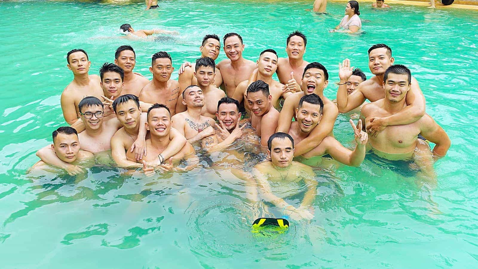 Gay pool party in Saigon is always popular