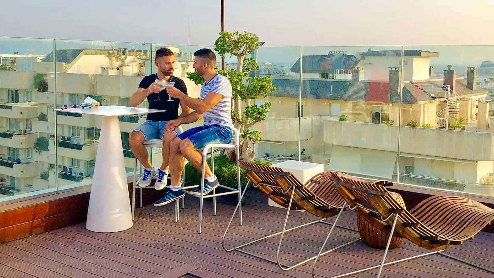 MiM Hotel is a gay friendly spot that offers a truly pampering experience as well as the most romantic rooftop bar for sunset cocktails!