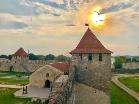 Bendery Fortress in the city of Bender in Moldova is an interesting and pretty structure to visit in this little independent nation