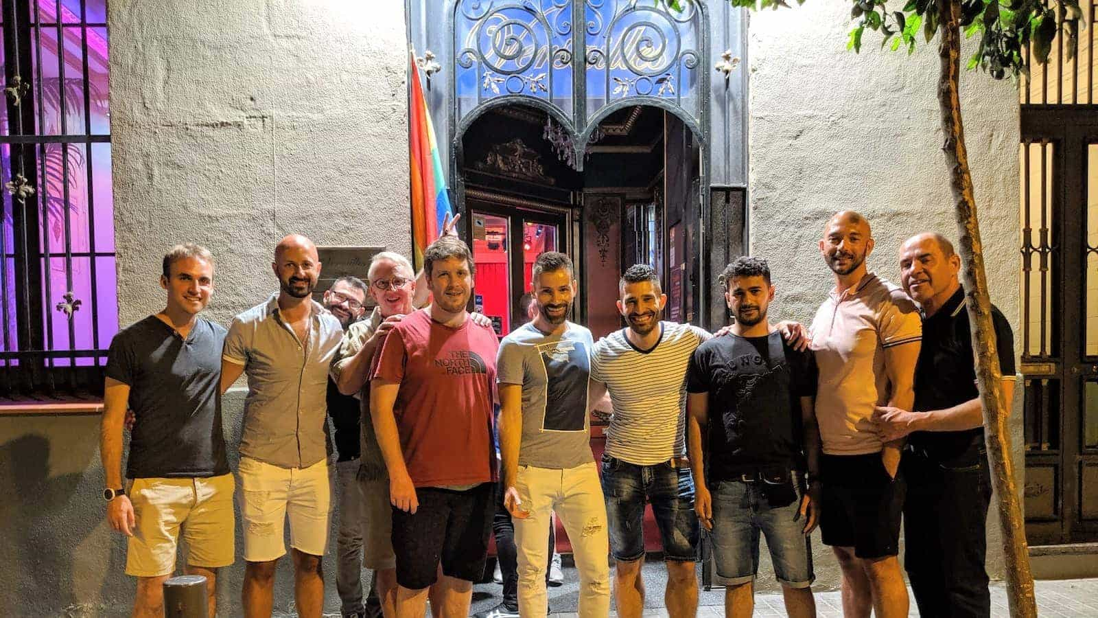 Versailles gay bar Barcelona drinks with friends