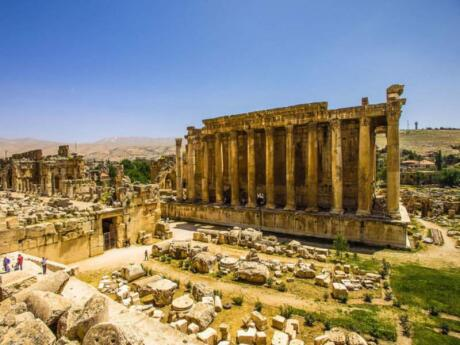 The ancient Roman temples at Baalbek in Lebanon are a fascinating spot to get a glimpse into Lebanon's history