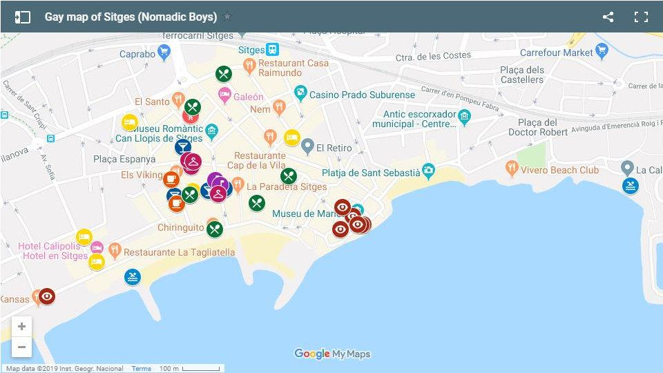 Use this map to find all the best gay places to stay, eat, party and explore in Sitges, Spain
