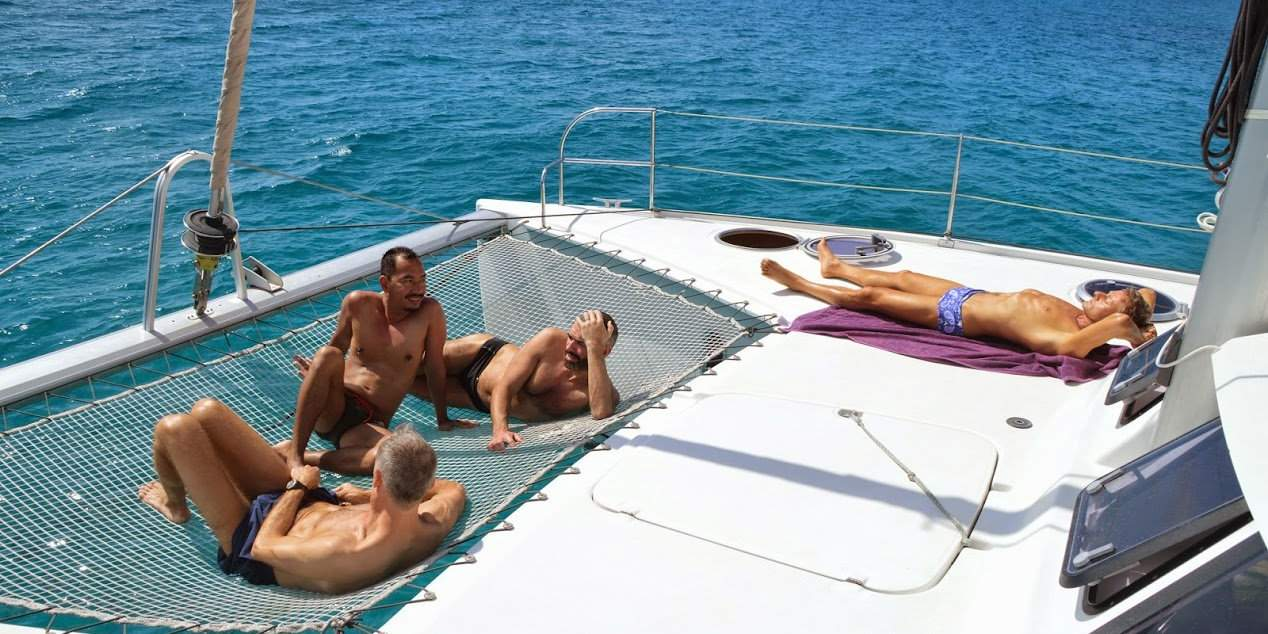 Explore the stunning Croatian coastline with exclusively gay guests and staff on board GaySail's luxury catamarans