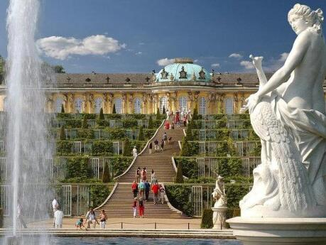 While you're in Berlin, head out of the city to explore nearby Potsdam and the stunning Sanssouci Palace