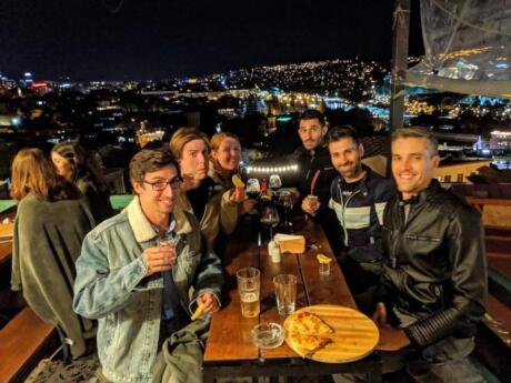 Amodi Cafe in Tbilisi features stunning views over the city as well as delicious food and lots of drinks