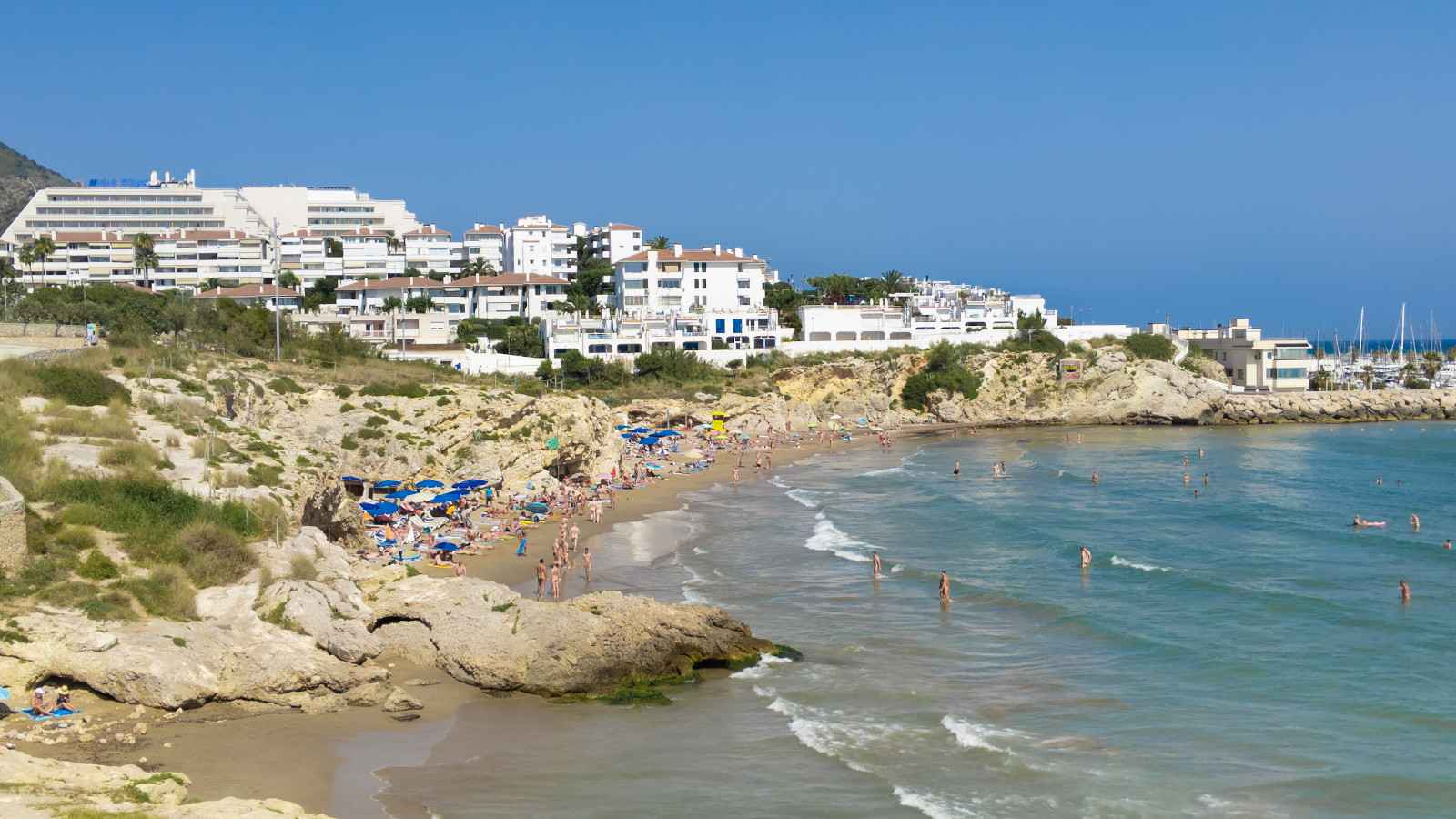 Balmins gay beach is a very popular hangout for LGBTQ travellers in Sitges