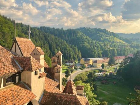 While it's associated with Dracula, Bran Castle is also worth a visit for the views alone