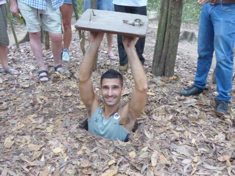 The Cu Chi Tunnels in Saigon are a fascinating and sobering way to learn more about the Vietnam War