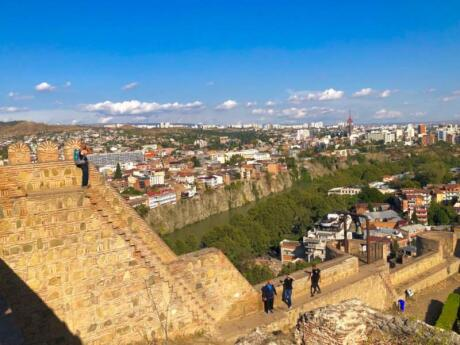 Another spot in Tbilisi for incredible views is from the Narikala Fortress walls