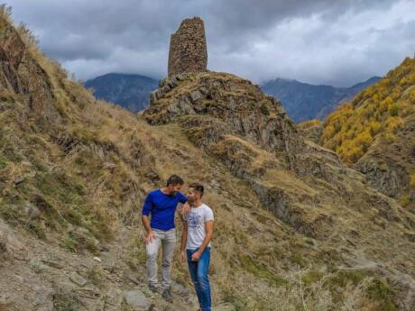 The mountainous Kazbegi region of Georgia is simply stunning and excellent for hiking