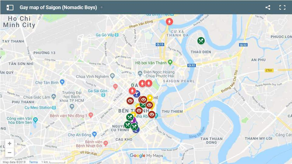 Use our gay map of Saigon to find out all the best gay friendly hotels, gay bars, clubs and restaurants