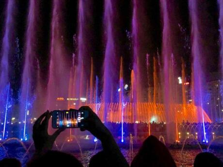 Make sure you stop off at Bucharest's Piata Unirii Park at night to see the incredible fountain, light and music show!