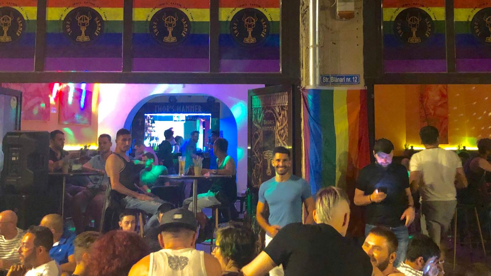 Thor's Hammer gay bar in Bucharest the city's only official gay club