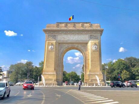 Bucharest's Triumphal Arch is very reminiscent of the one in Paris, and you can go inside it for views over the city