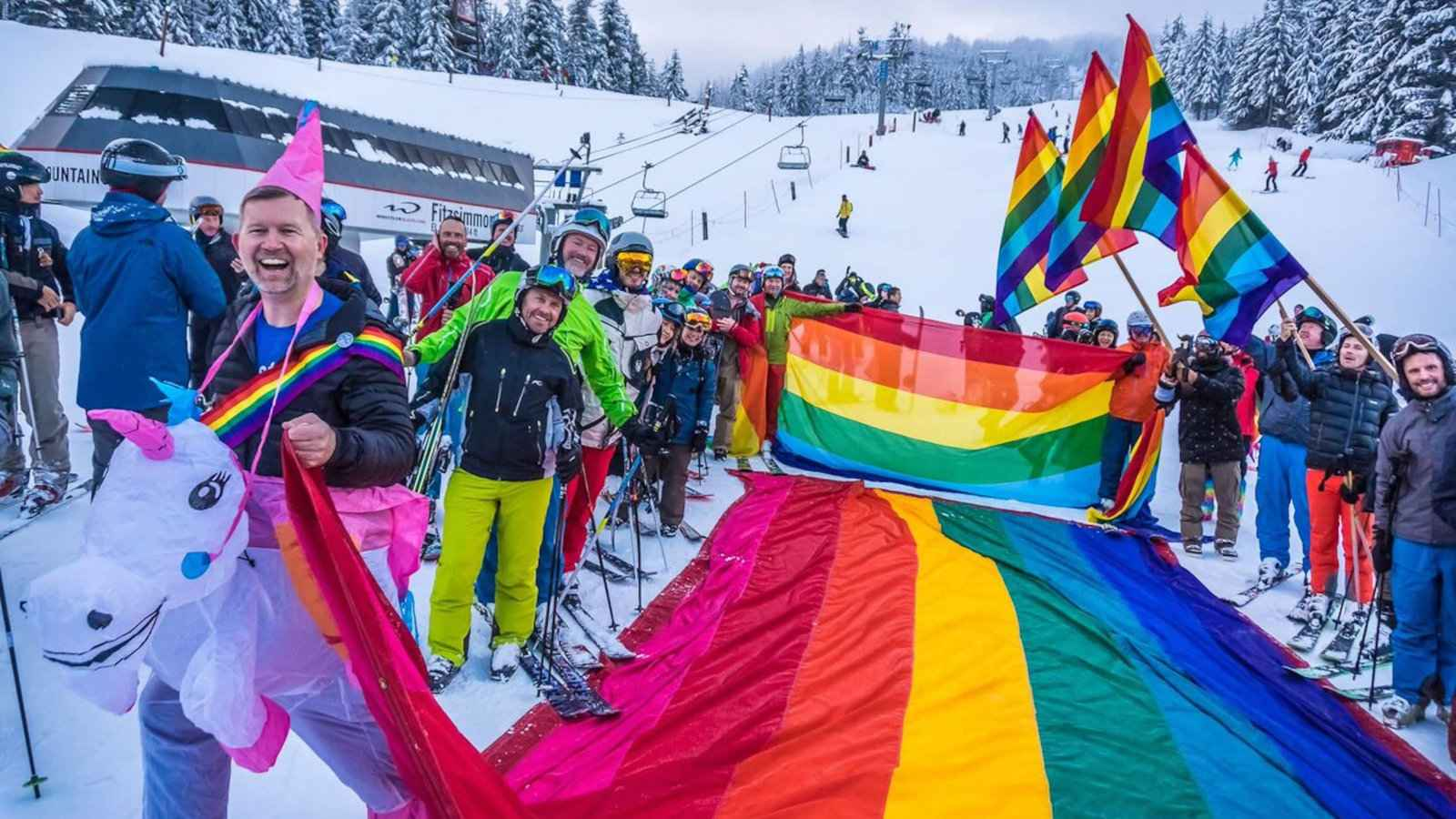 Whistler Pride's snow pride parade is just one of the exciting activities you can take part in during this fabulous week-long event