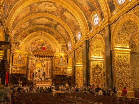 Even if you're not religious you will gasp with wonder at the opulent interior of St. John's Co-Cathedral in Valletta