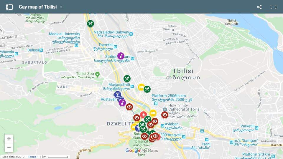 Check out our map of the best places for gay travellers to stay, eat, party and explore in Tbilisi