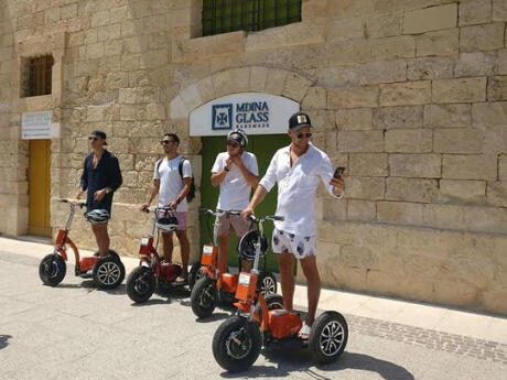 Gay Malta guide - A fun way to explore Malta's capital city of Valletta is with electric scooters