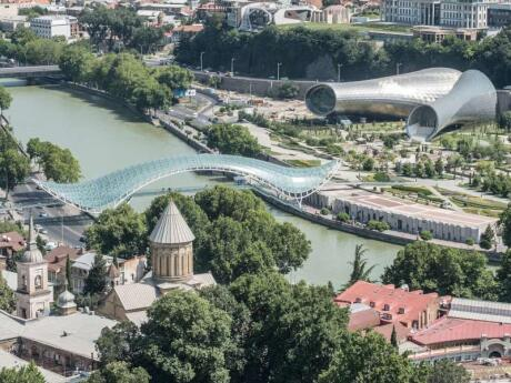 If you want to experience some of Tbilisi's modern architecture make sure you walk across the Bridge of Peace towards the concert hall in Rike Park