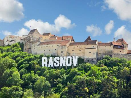 Rasov Fortress is a fascinating place to visit in Romania, not to mention those cool Hollywood-like letters!