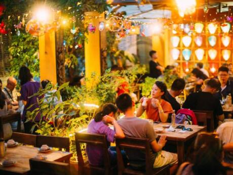 Dine in a pretty rooftop garden on authentic Vietnamese food at Secret Garden restaurant