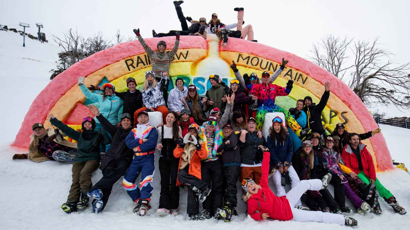 Australia's other gay ski event is the fabulous Rainbow Mountain which takes place at Thredbo in New South Wales