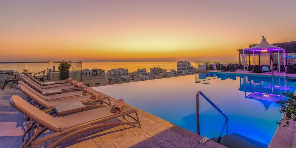 AX The Palace is an incredible hotel in Malta with stunning views from the rooftop infinity pool