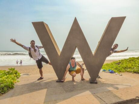 The W resort in Bali is a fun and gay friendly spot for cocktails or just to relax on the beach