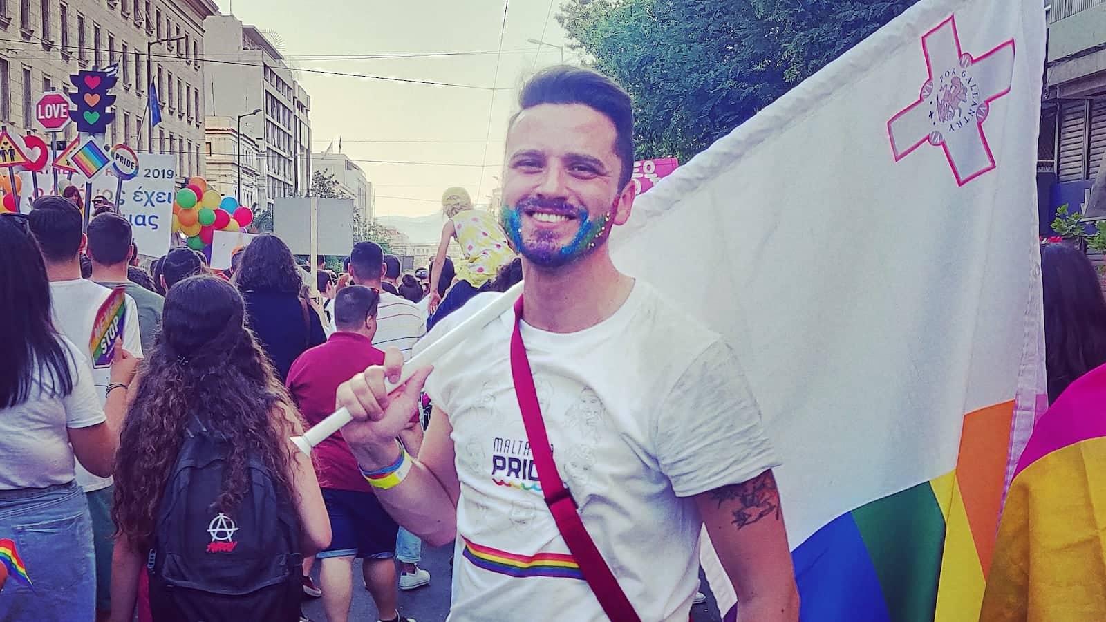 Clayton l'un des organisateurs de la Gay Pride de Malte
