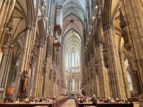 While you're in Cologne make sure you see the inside of the stunning Cathedral and maybe even join a tour to the roof!