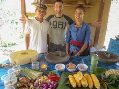 We joined an authentic Balinese cooking class in Bali so now we can make all our favourite dishes at home