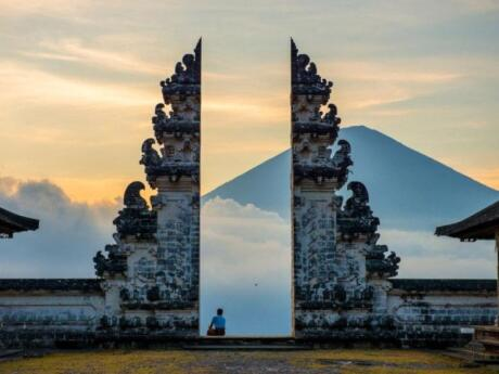 If you want the famous shot at Bali's Gateway to Heaven, you'll need to visit Pura Lempuyang temple