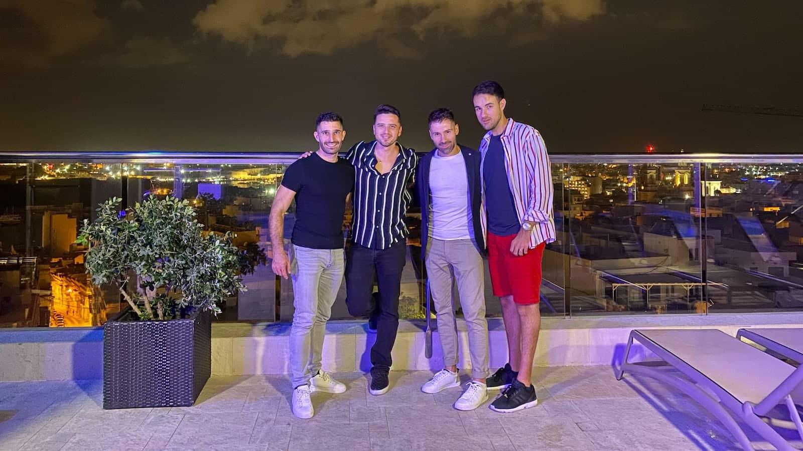 Gay boys in Malta at TemptAsian restaurant