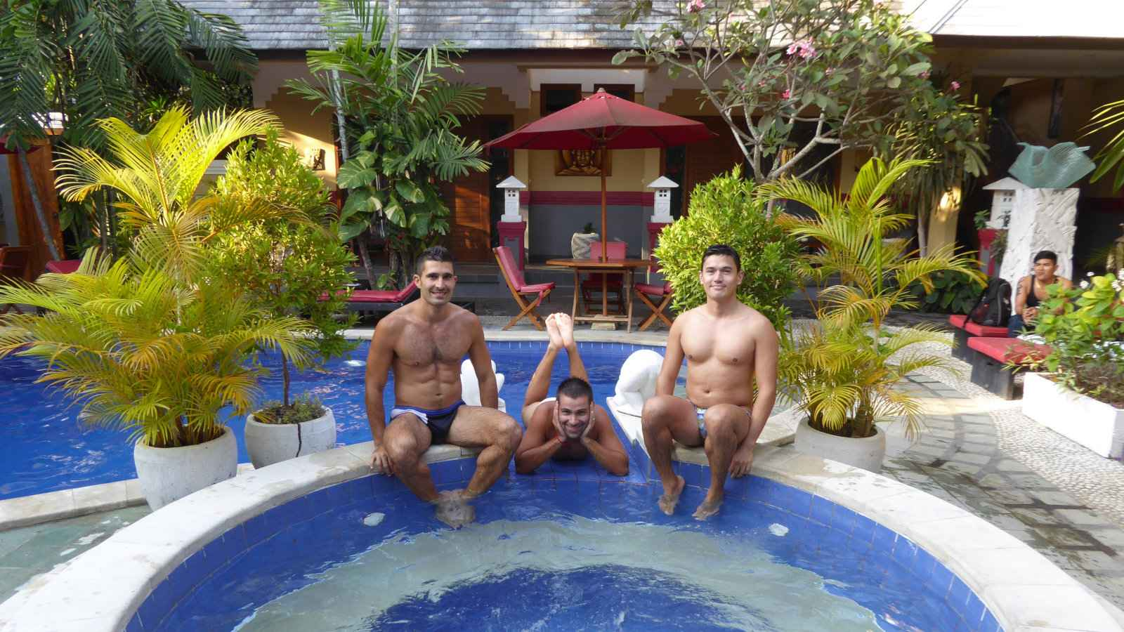 You'll definitely make new friends at the gay friendly, colourful and fabulous BaliNea Villa and Spa