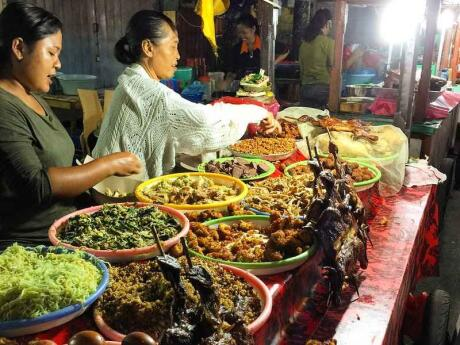 If you want to try some Indonesian street food, make sure you head to the Gianyar Night Market in Bali