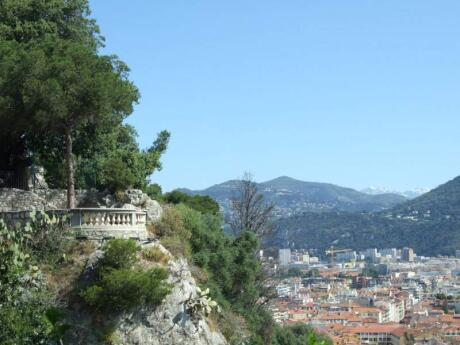 The best views of Nice in France can be seen from on top of Castle Hill